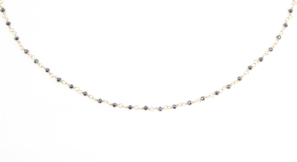 Beaded Choker - Pyrite
