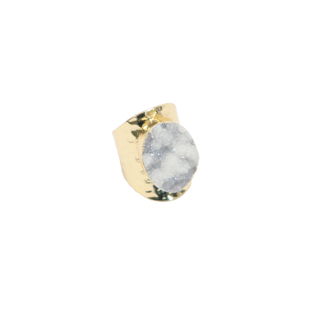 Rock On Ring - Round White