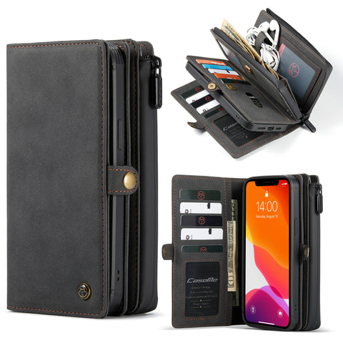 CaseMe-018 Magnetic Detachable 2 in 1 Multi-functional Horizontal Flip Leather Case For iPhone