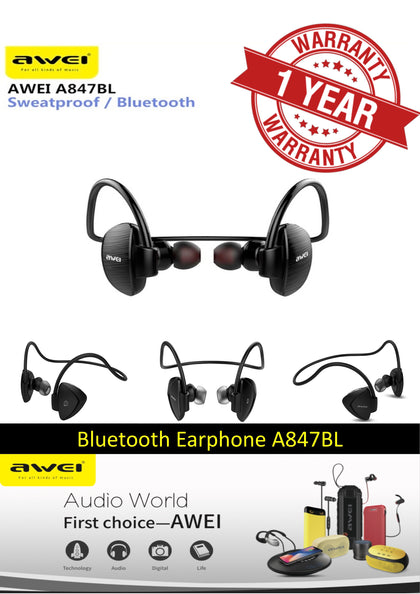 AWEI A847BL WIRELESS SMART SPORTS HEADPHONE