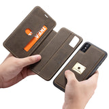 CASEME H2 Series Detachable 2-in-1 Stand Leather Magnetic Phone Case for iPhones