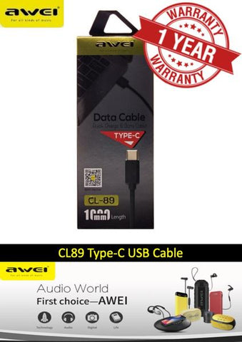 Awei CL-89 USB to Type-C Charging Cable 1M