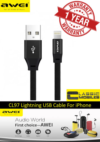 AWEI CL-97 Fast Lightning Charging Cable for iPhone, iPod and iPad