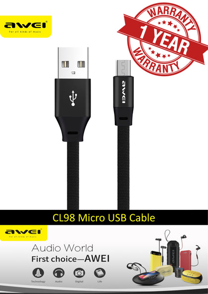 AWEI CL-98 Fast Charging Cable for Micro USB