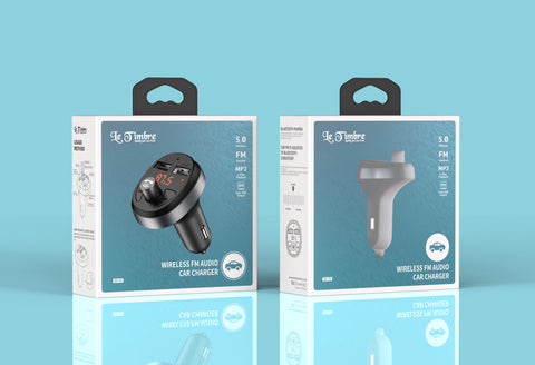 LE TIMBRE DC-C5 DUAL USB PORTS CAR CHARGER WITH BLUETOOTH FM TRANSMITTER