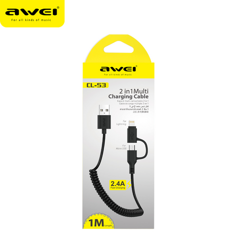 Awei 2 in 1 Multi Charging Cable