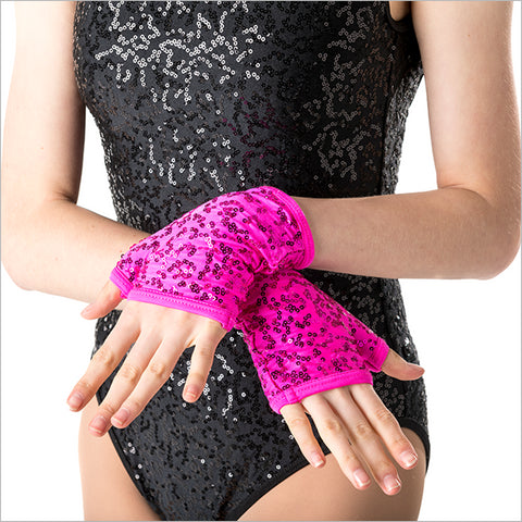 ACC05 - Sequin Fingerless Gloves