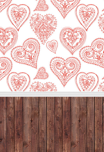 Valentines Vinyl Photography Backdrop