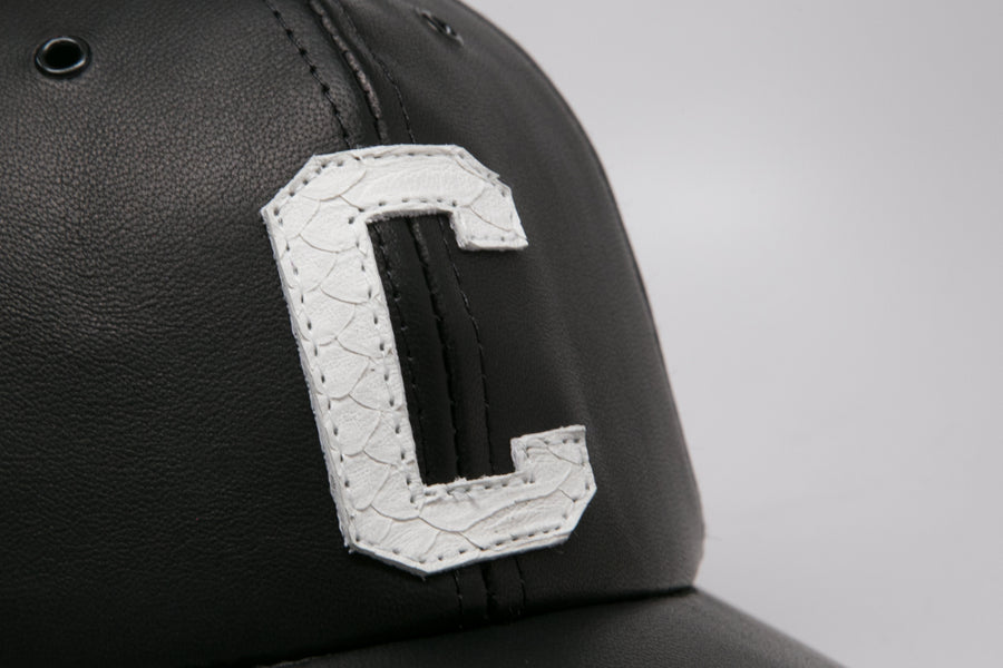 Python Monogram Leather Hat
