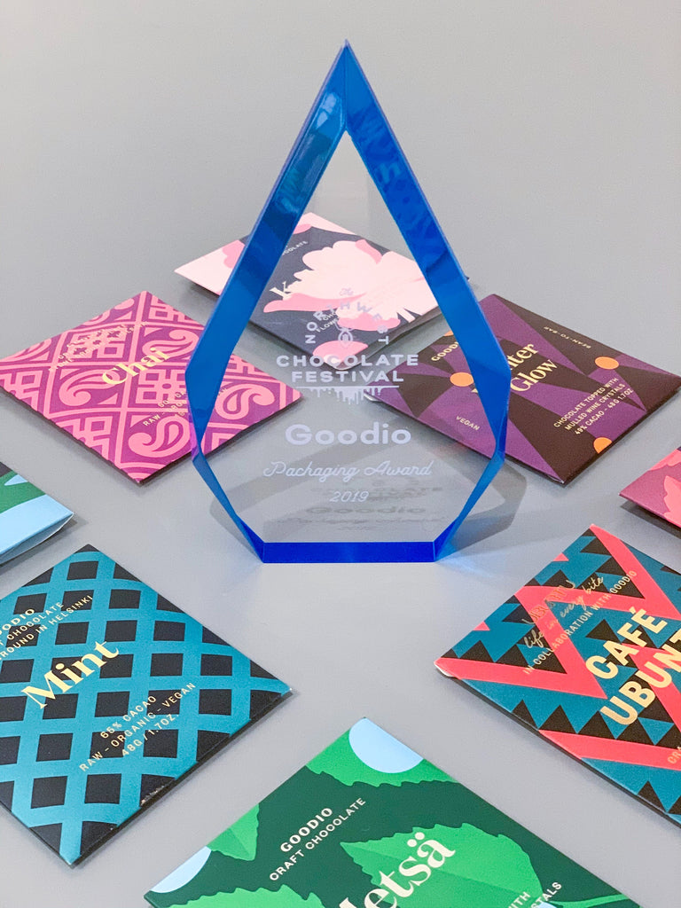 Goodio Wins the Award for Outstanding Packaging Design at Northwest Chocolate Festival