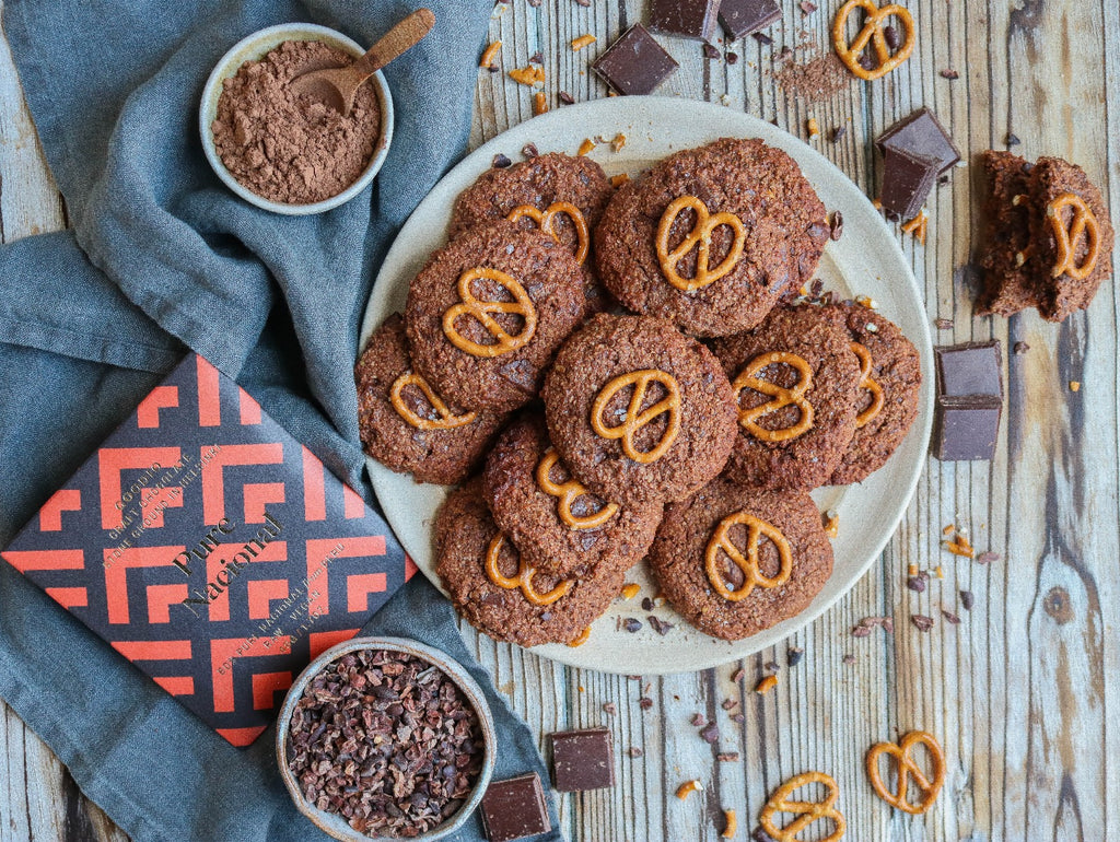 Double Chocolate Pretzel Cookies