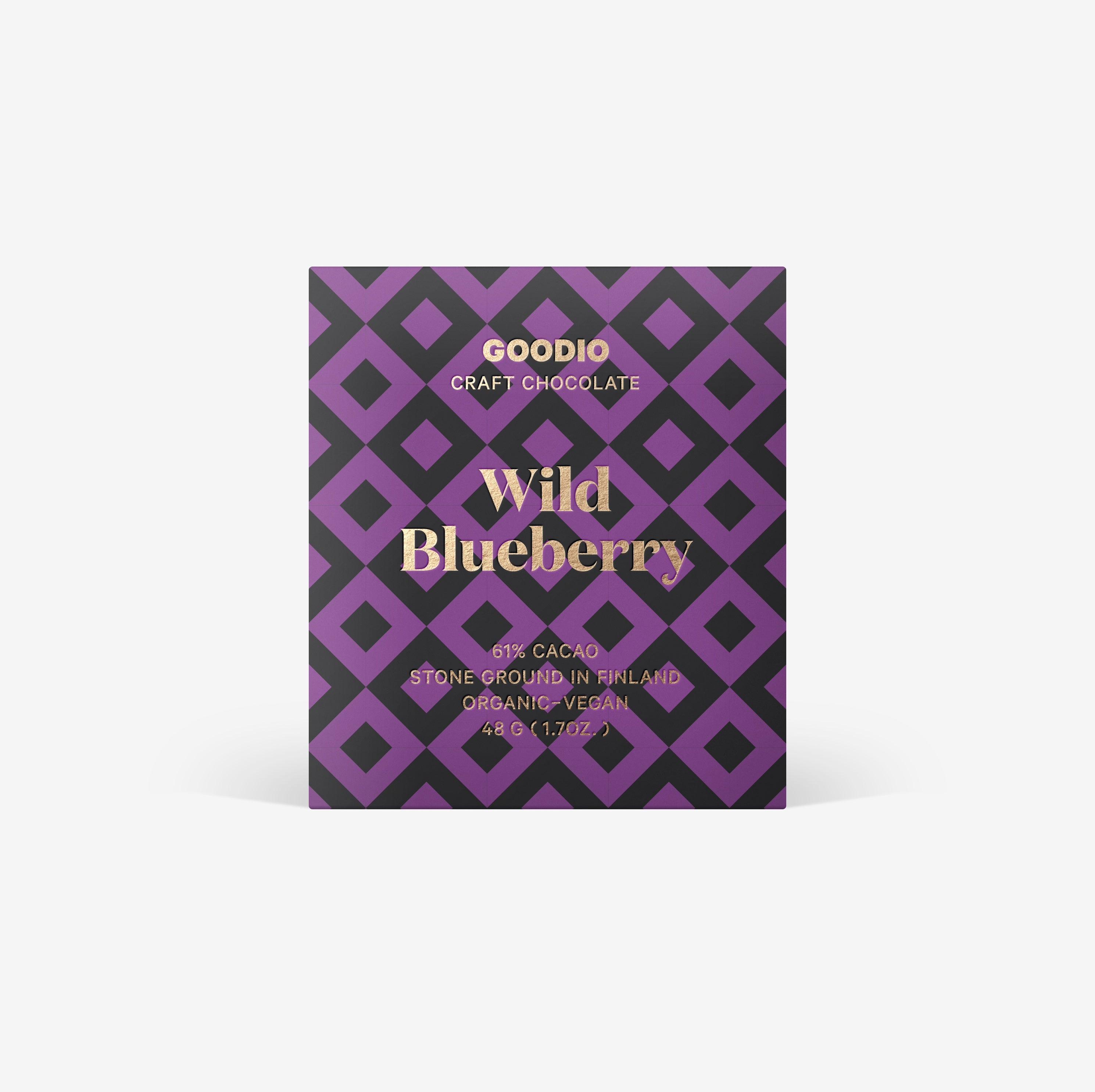 Organic & Vegan Wild Blueberry Chocolate 61%