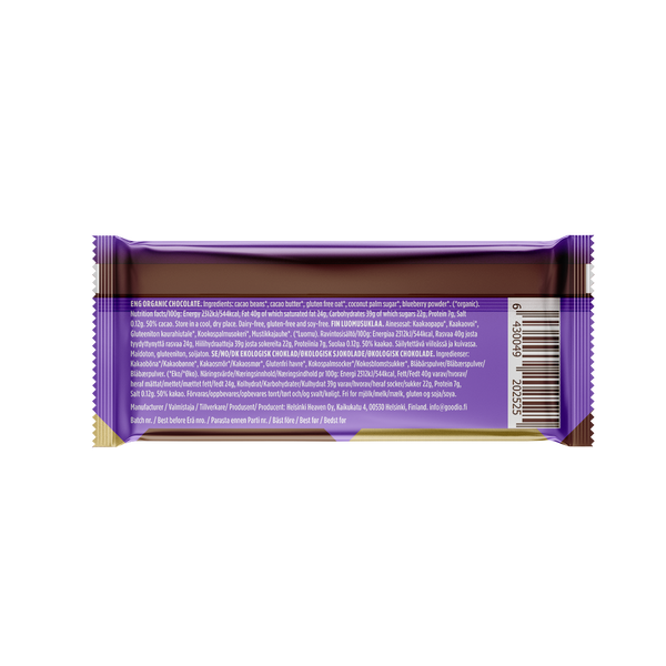 10-pack: ChocOat Wild Blueberry Chocolate