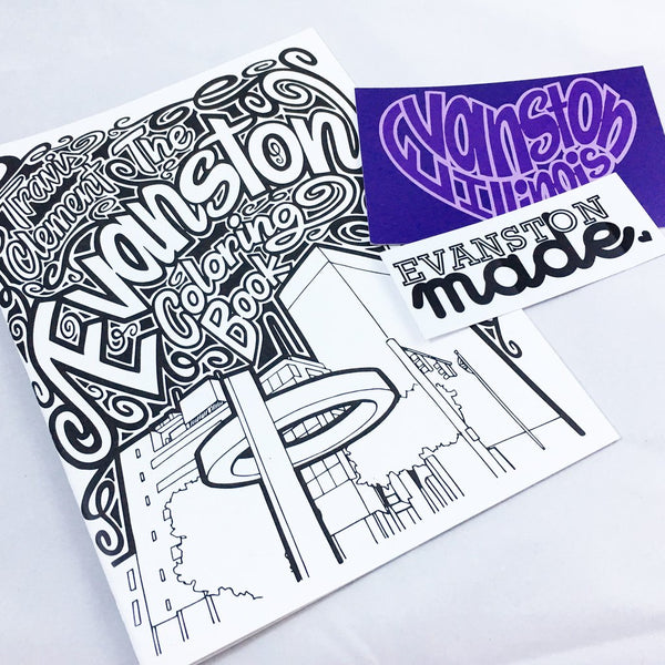 Evanston Coloring Book & Postcard Set