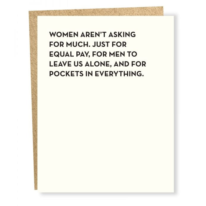 Women Asking For Card