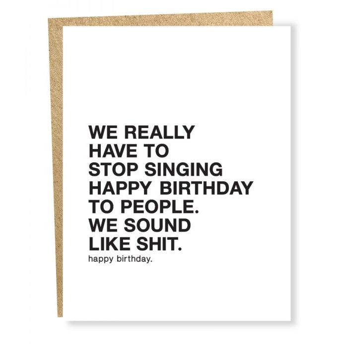 Singing Happy Birthday Card