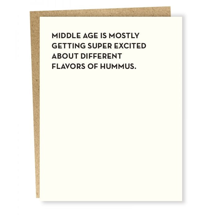 Middle Age Hummus Card