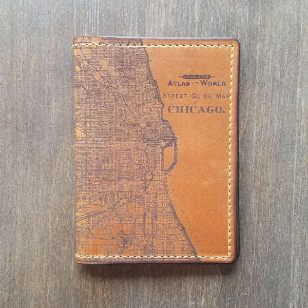 Handmade Chicago and Evanston Passport Wallets
