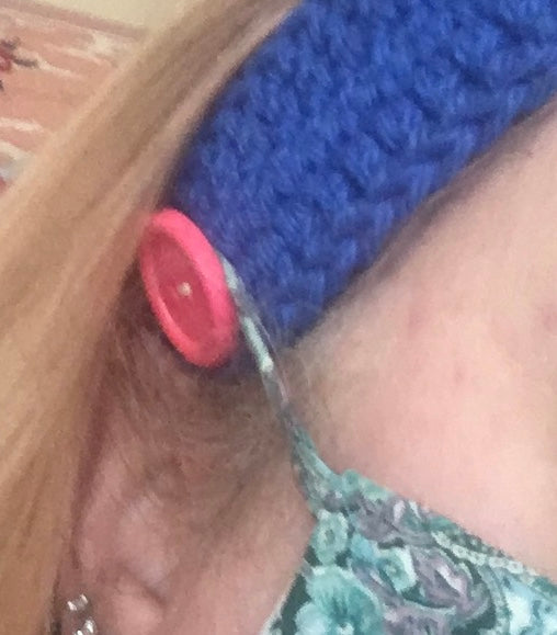 Face Mask Ear Saver - Crocheted Headband