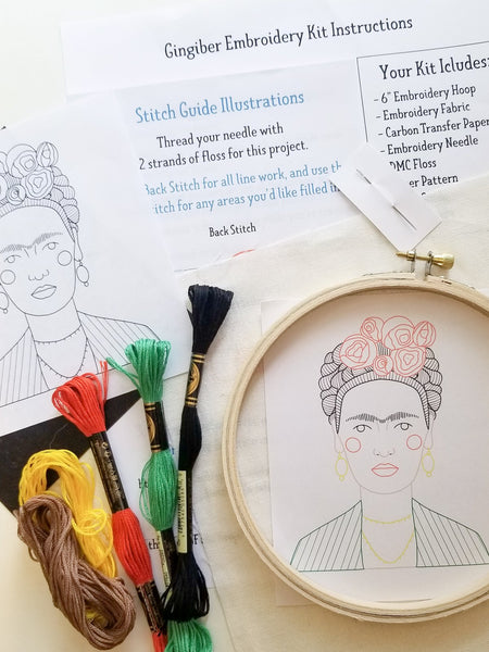 Embroidery Kit - Endure with Flowered Hand