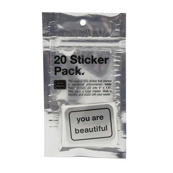 You Are Beautiful - Pack of 20 Stickers