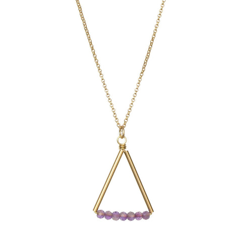 Kaylyn Necklace - Gold - Amethyst