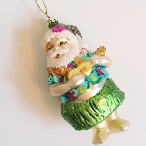 ***SALE*** Hawaiian Santa Ornament