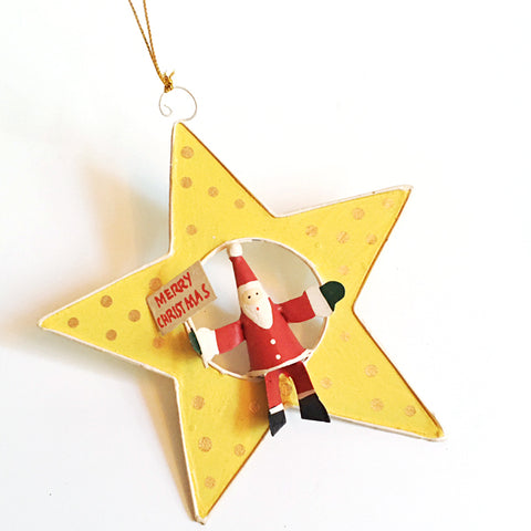 ***SALE*** Santa Star Ornament