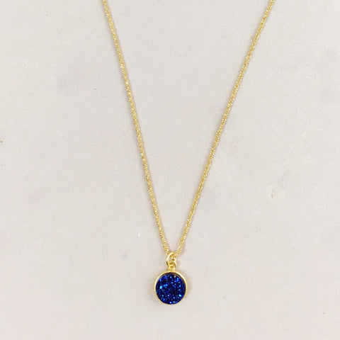Druzy Dot Necklace