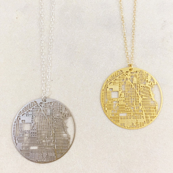 Evanston Map Necklace