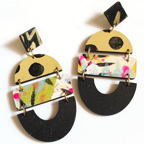 Bela Wood Earrings