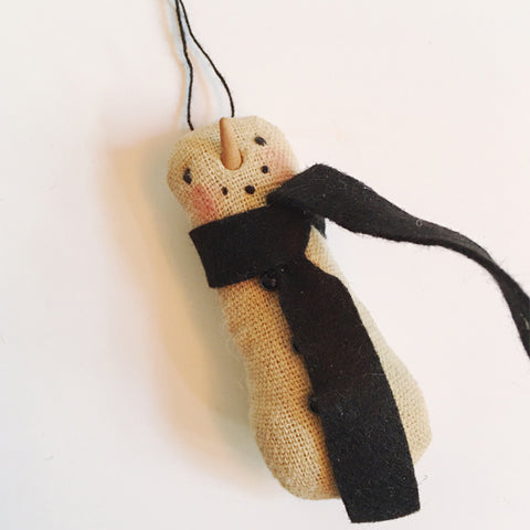 ***SALE*** Small Fabric Snowman Ornament