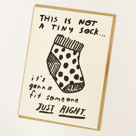 Tiny Sock Baby Card
