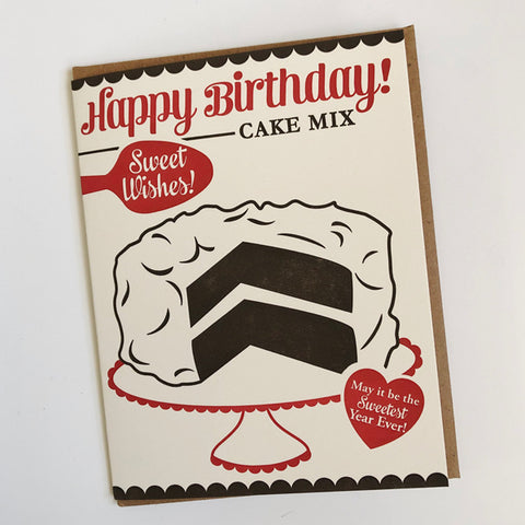 Cake Mix Birthday Card
