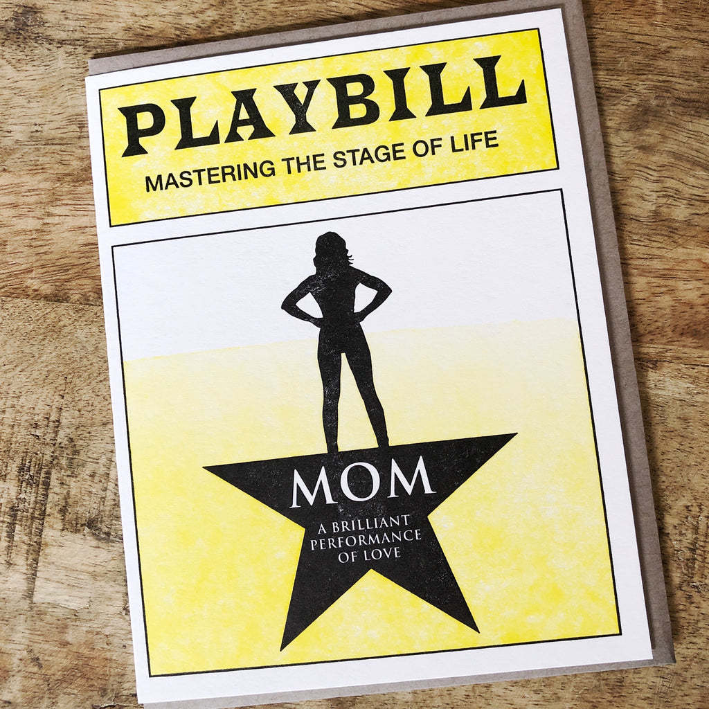 Playbill Mother's Day Card