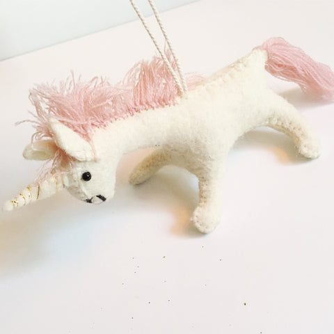 ***SALE*** Sassy Felt Unicorn Ornament