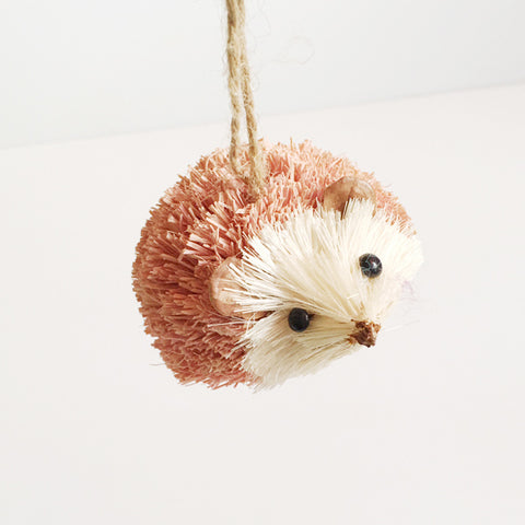 ***SALE*** Cute Pink Hedgehog Ornament
