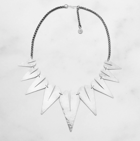 Rift Sterling Silver Statement Necklace