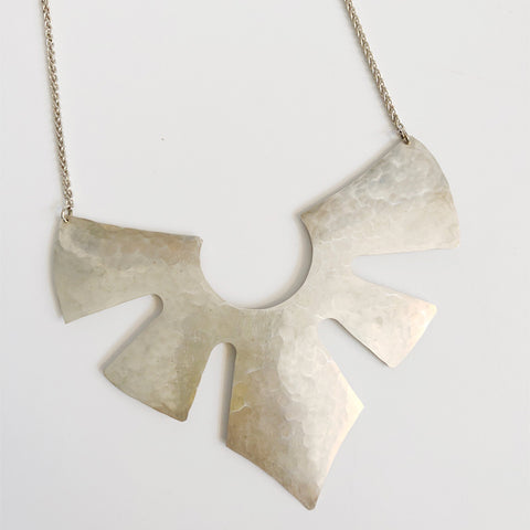 Mia Sterling Silver Statement Necklace