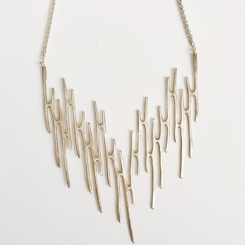 Libby Sterling Silver Statement Necklace