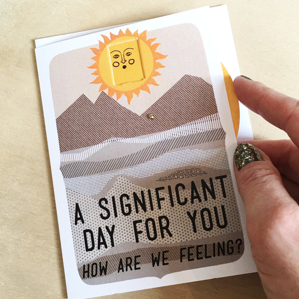 Interactive Significant Day Card