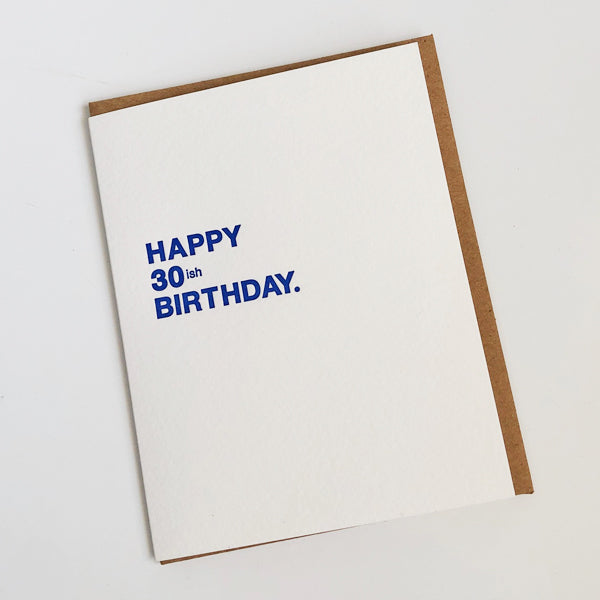 Happy 30ish Birthday Card