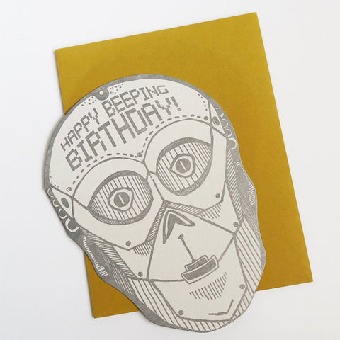 Happy Beeping Birthday Card