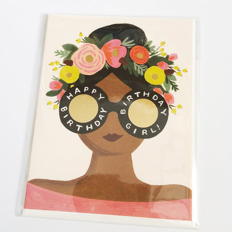 Floral Crown Birthday Card