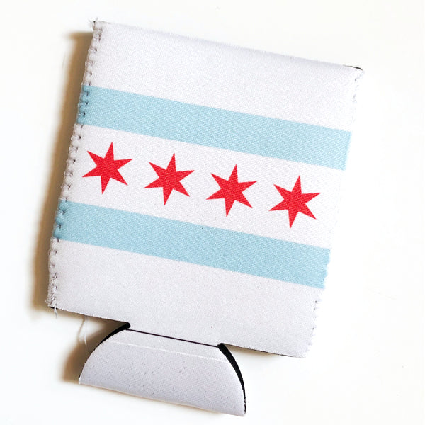 Chicago Flag Coozie