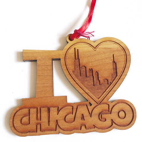 I Heart Chicago Ornament