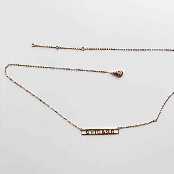 Chicago Horizontal Necklace