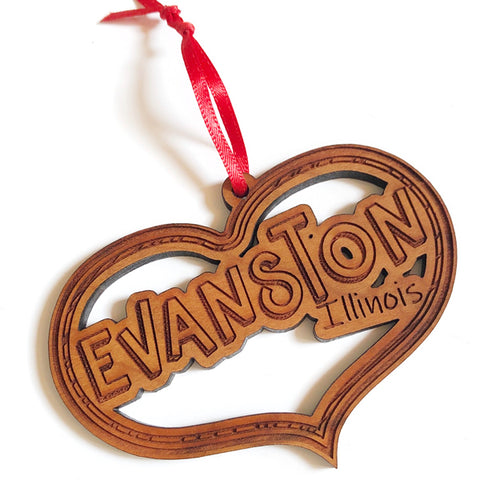 Evanston Heart Ornament