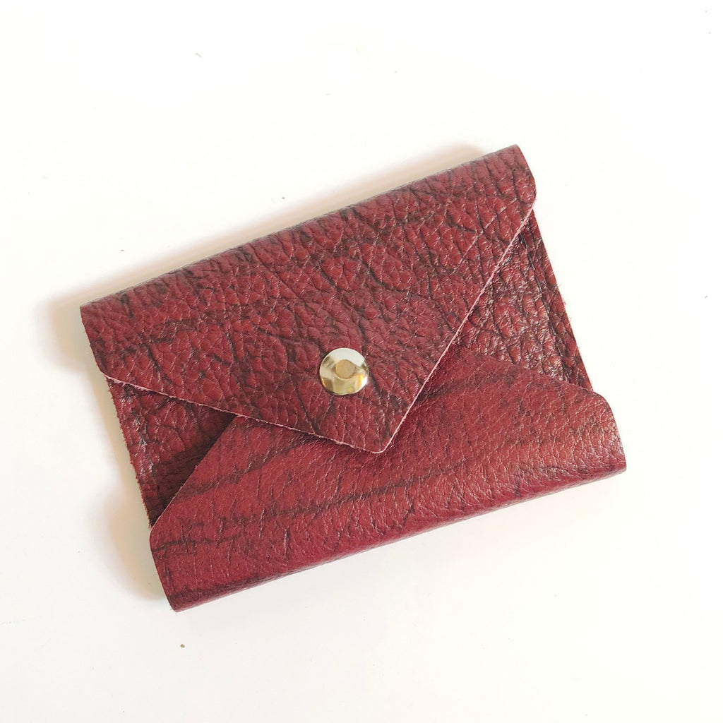 ***SALE*** Burgundy Leather Business Card Wallet