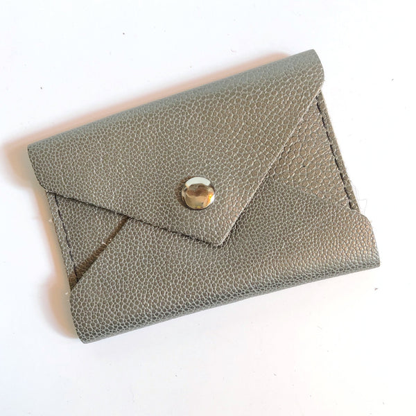***SALE*** Gray Leather Business Card Wallet
